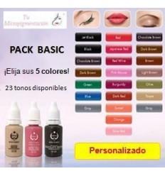 Pigmentos Biotouch para micropigmentación (5 uds)