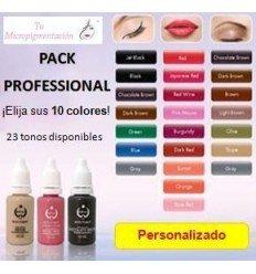 Pack Personalizado: 10 Pigmentos micropigmentación (15 mL)
